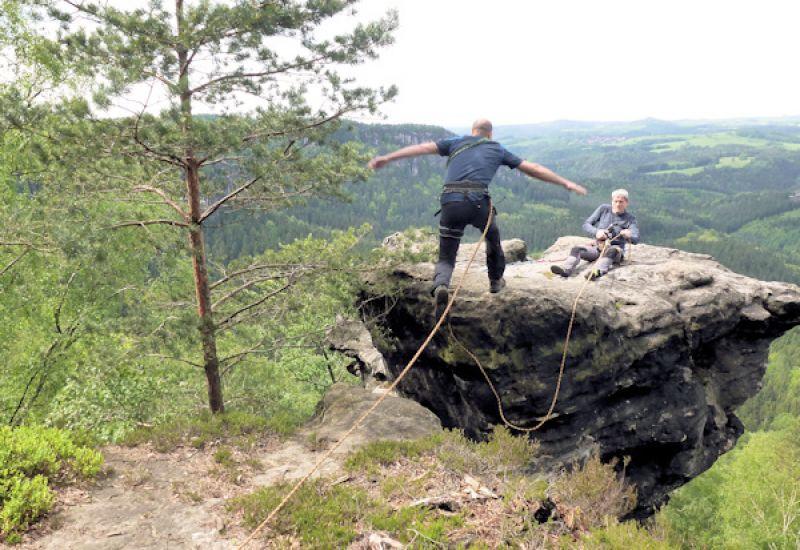 Rübezahlturm Sprung