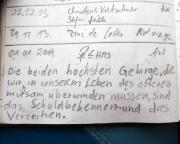 Gipfelbuchspruch - Gendarm 2014